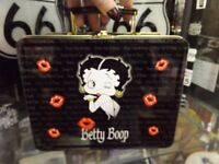 Brand new Betty Boop metal lunch tins, with a catch and carry handle.