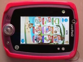 Leapfrog Leap pad 2 and 6 games with gel protective cover