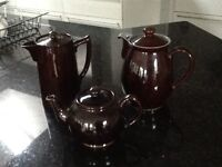 2 Teapots and 1 Coffee pot