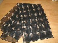 Black/Gold Chiffon style scarf