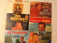 Selection of Jim Reeves vinyl LP's