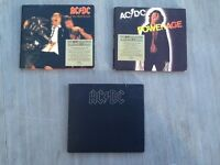 3 AC/DC CDs Back in Black, Powerage, If you want blood you've got it