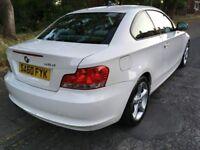 2010 '60' BMW 118D 1 SERIES TURBO DIESEL 2 DOOR COUPE IN WHITE 120D 2.0