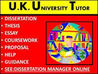 Dissertation Tutor, Dissertation Help, Dissertation Structure, Literature review help, Proofreading