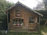 Kids Two Story Wooden Playhouse with Veranda