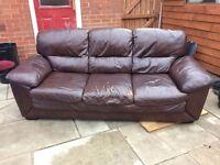 quality leather sofa £35