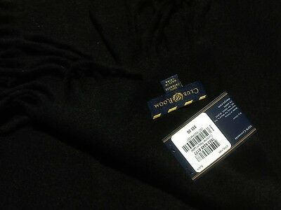 Brand New Club Room Scarf, Cashmere Scarf - 100% cashmere -black