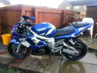 Swap Yamaha r6 for motocross bike