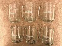 Set of 6 Captain Morgan's Tankards - Glasses - Glassware.