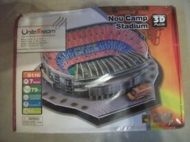 BARCELONA FOOTBALL 3 D STADIUM PUZZLE EDUCATIONAL AND COLLECTABLE