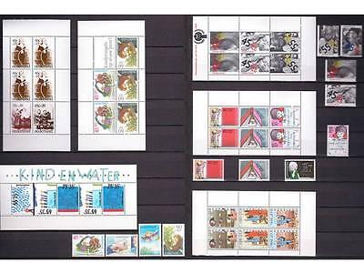 Netherlands Kinderblokken/Children sheets 1974, 1977-1980, 1988 Mint hinged