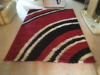 Brand New Large Red and Black Rug
