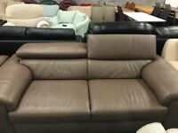 High retail real leather sofas