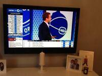 Black flat screen tv