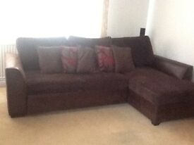 MADDOX rIght hand corner double bed settee with storage £250
