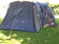 Khyam Rigidome Excelsior - very strong modular tent sleeps 12 in three zip in pods