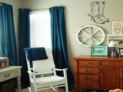 Cowboy Boots vinyl wall art decal sticker boy girl bedroom western nursery decor