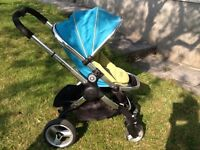 Icandy peach Pram including carrycot, rain over, connectors