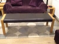 Marks and Spencer's Sonoma Light Bench with Leather Top