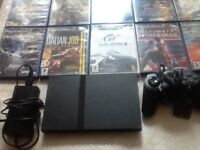 Ps2 with games controllers and accessories