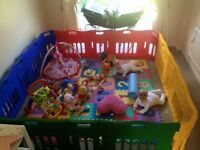 Jolly kidz play pen with extension