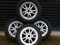 *!*Full Set Of 4 Genuine Toyota Alloy Wheels*!* 4 Brand New Tyres **5 STUD** **195/65/15**