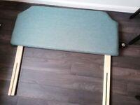 Duck egg green / blue upholstered double headboard brand new Wayfair Larsen