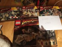 Lego Sets Sponge Bob and Indiana Jones Lot