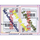 200 Premium Rounded Corner Shipping Labels 2 Per Sheet-8.5 x 11-Self Adhesive