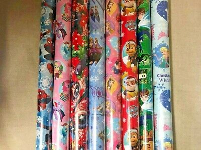 4m - 16m CHRISTMAS WRAPPING PAPER DISNEY PAW PATROL AVENGERS PONY ASSORTED KIDS
