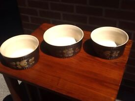 Vintage Denby Bakewell - 3x casserole dishes