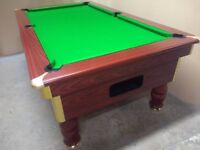 Slate Bed Pub Pool Table - New Recover & Accessories - Free Local Delivery - Freeplay for Home Use