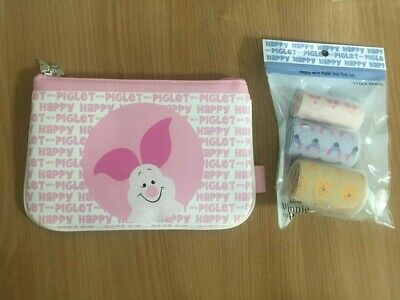 [ETUDE HOUSE X DISNEY] PIGLET COLLECTION / HAIR ROLL L,M,S 3pcs SET  & POUCH