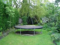 12 foot trampoline with cover.