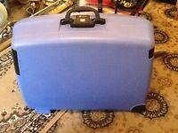 Delsey Large Light Blue Suitcase