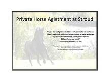 PRIVATE HORSE AGISTMENT AT STROUD Stroud Great Lakes Area Preview