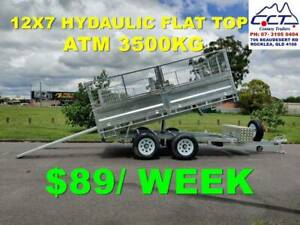 Take Home Layby.12x7 Hydaulic Flat Top Trailer With Ramps