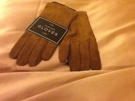 Next Brown leather gloves