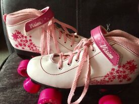 SFR pink and White roller skates size 4