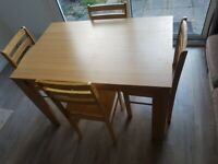 ❗EVERYTHING MUST GO❗ New Dining Table with 4 Chairs (0 7 4 4 0 3 3 2 2 5 5)