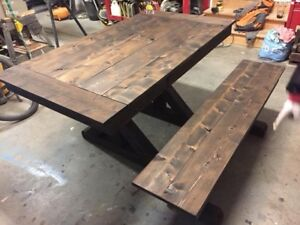 Harvest dining table custom built