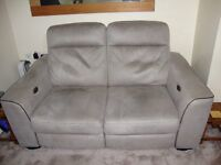 electric 2 seater recliner sofa