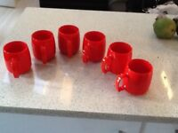 6 camping cups plastic so unbreakableccc reduced to clear £3.99