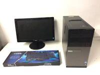 Gaming Computer PC, Complete Setup with Monitor (Intel i5 3470, 4GB RAM, 500GB HD, GTX 1050 Ti 4GB)