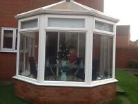 Conservatory Victorian 3mx3m comes complete with white roller blinds collection only