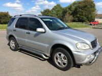 mercedes benz ml270 cdi automatic 4x4 2004/04 plate with 101k and a march 2019 mot..