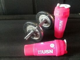 Pink USN Protein shakers