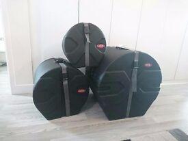 SKB drum cases, heavy duty set