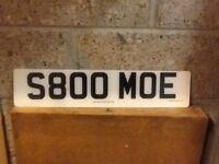 S800MOE registration number for sale