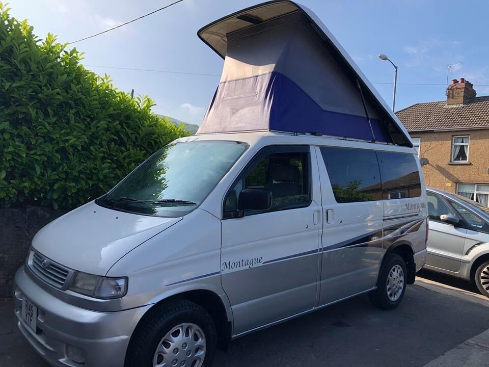 SOLD SOLD SOLD - LOVELY 1998 MAZDA BONGO 2.5TD MONTAGUE ELECTRIC POP TOP FULL SIDE CONVERSION ...